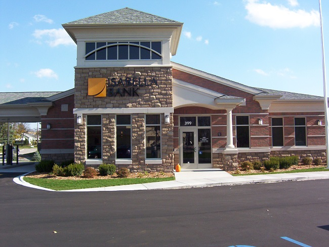 Front of the isabella bank branch in freeland